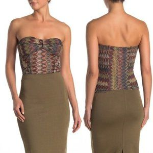Free People  Too Chic Tube  Earth Combo NWT S